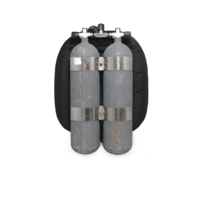 Niord double tank rig 40 lbs stainless steel